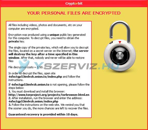 CryptorBit és a HowDecrypt vírus eltávolítása
